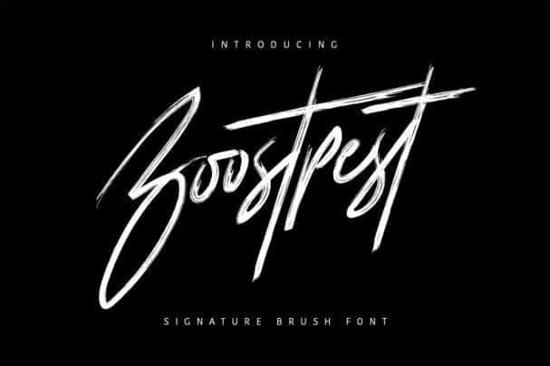 Download Boostpest Brush Font font (typeface)
