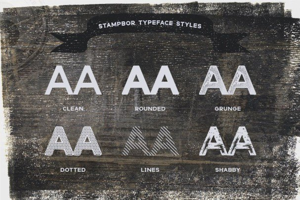 Download Stampbor Typeface font (typeface)