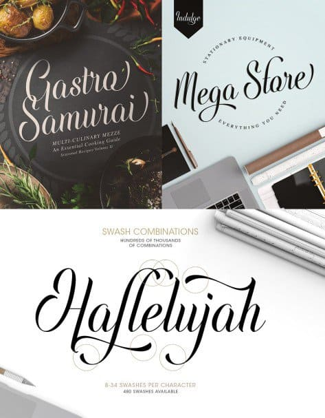 Download Indulge Script font (typeface)