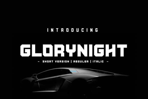 Download Glorynight Short Version font (typeface)