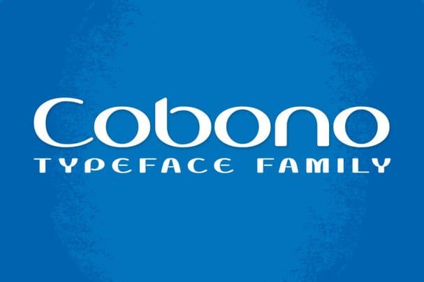Download Cobono font (typeface)
