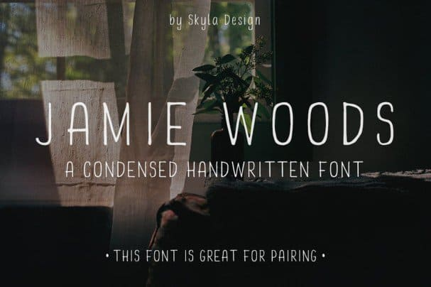 Download Skinny, condensed font - Jamie Woods font (typeface)