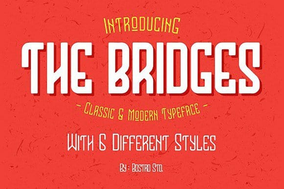 Download The Bridges font (typeface)