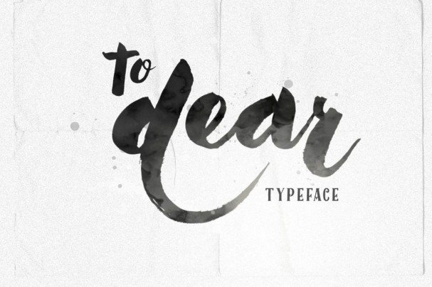 Download To Dear font (typeface)