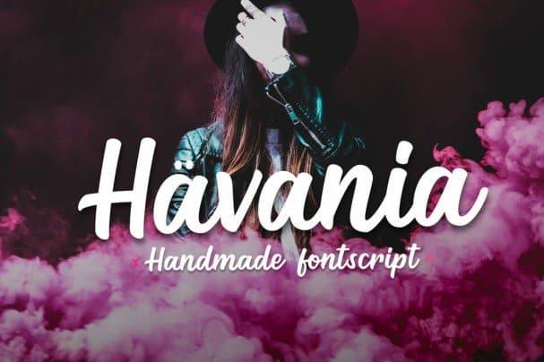 Download Havania - Script font (typeface)