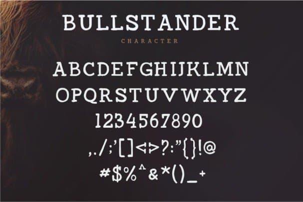 Download Bullstander 6 Set font (typeface)