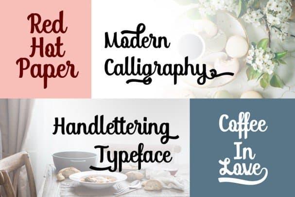 Download Soybeanut - Brush Script font (typeface)