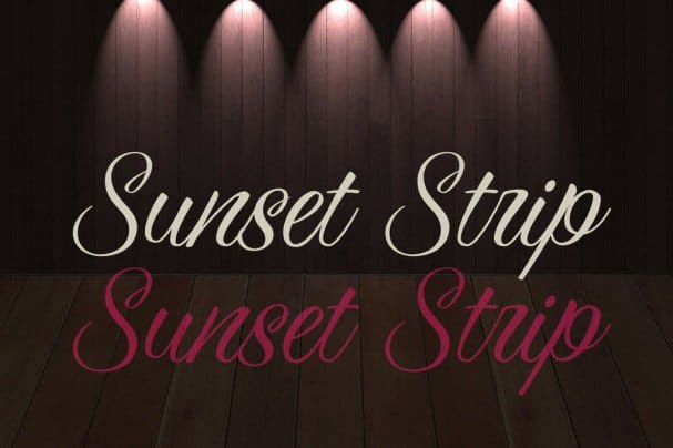 Download Sunset Strip font (typeface)