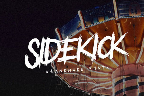 Download SideKick - Handmade Font Script font (typeface)