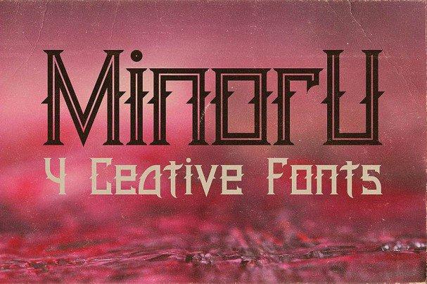 Download Minoru font (typeface)