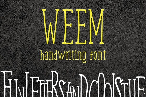 Download Weem - Handwriting font (typeface)