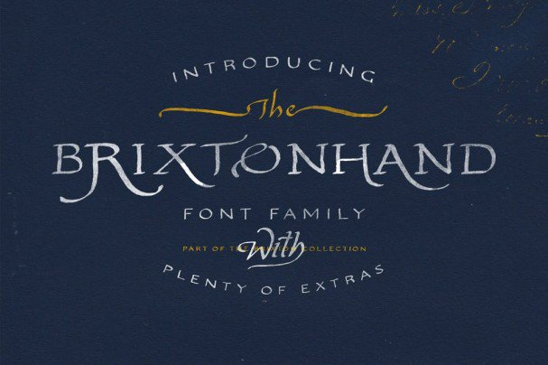 Download Brixton Hand Family font (typeface)