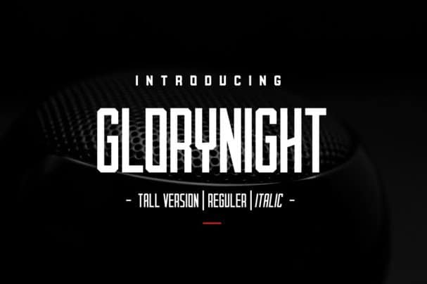 Download Glorynight Tall Version font (typeface)