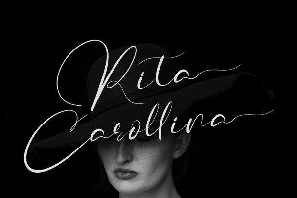 Download Rita Carollina font (typeface)