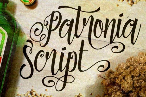Download Patronia Script font (typeface)