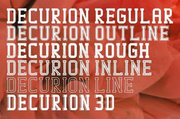 Download Decurion Typeface font (typeface)