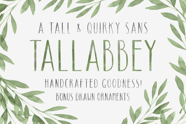 Download Tall Abbey Sans font (typeface)