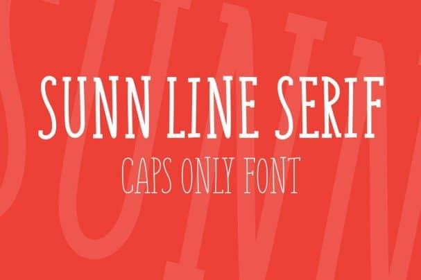 Download SUNN Line Serif Caps Only font (typeface)