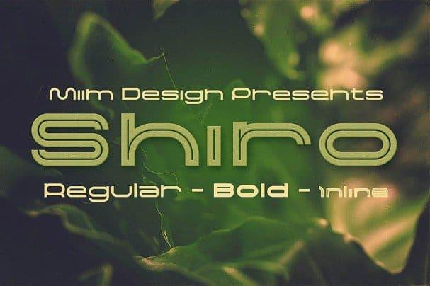 Download Shiro - Modern font (typeface)