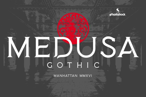 Download Medusa Gothic font (typeface)