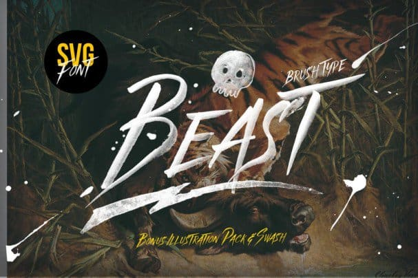 Download Beast SVG & Graphics Pack font (typeface)