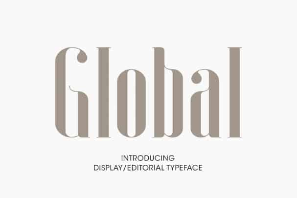 Global font free download Ⓐ AllBestFonts com