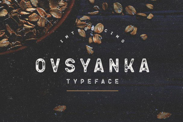 Download Ovsyanka Typeface font (typeface)