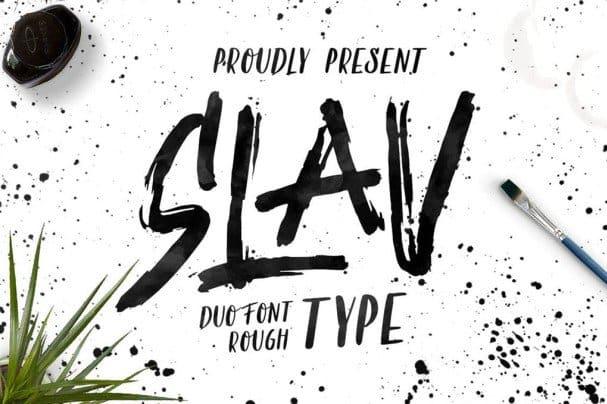 Download Slav Type font (typeface)