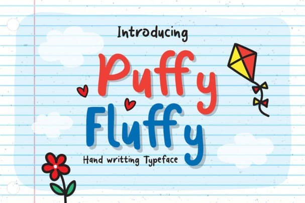 Download Puffy Fluffy font (typeface)