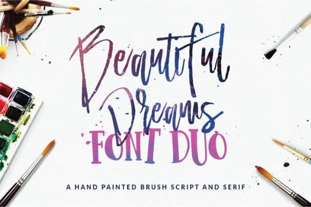 Download Beautiful Dreams - Font Duo font (typeface)