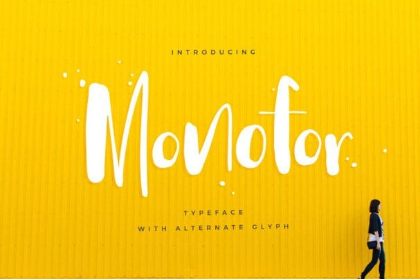 Download Monofor font (typeface)