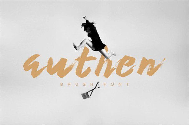 Download Authen Brush font (typeface)