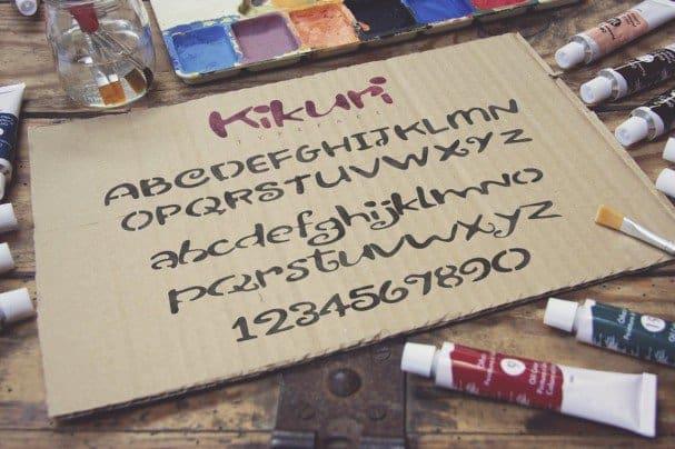 Kikuri Typeface + Extras font free download Ⓐ AllBestFonts com