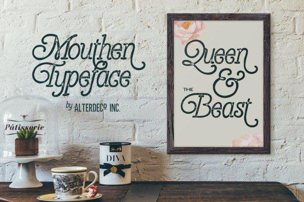 Download Mouthen Typeface font (typeface)
