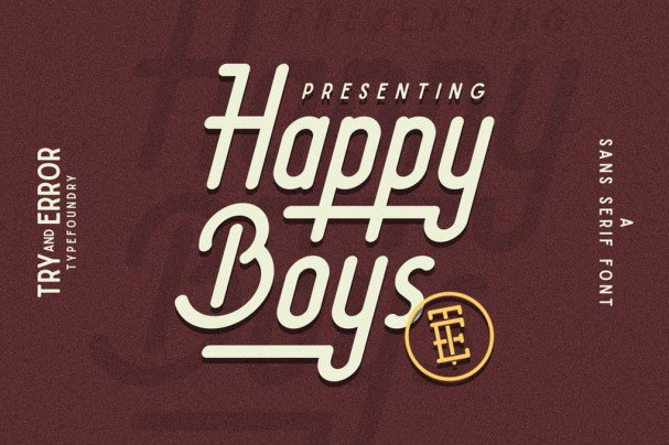Download Happy Boys font (typeface)
