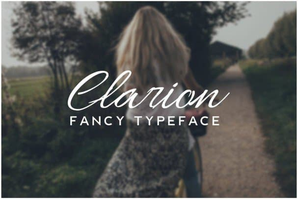 Download CLARION - Fancy Handwriting / Decorative Typeface font (typeface)