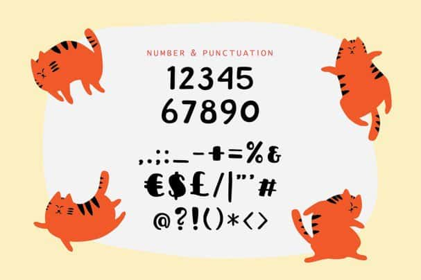 Download Sleepy Fat Cat font (typeface)