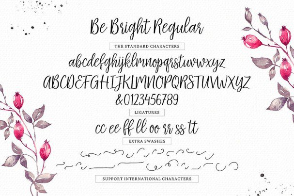 Download Be Bright Script font (typeface)
