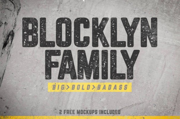 Download Blocklyn Family + Mockups font (typeface)
