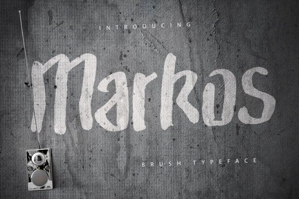 Download Markos Brush Typeface font (typeface)