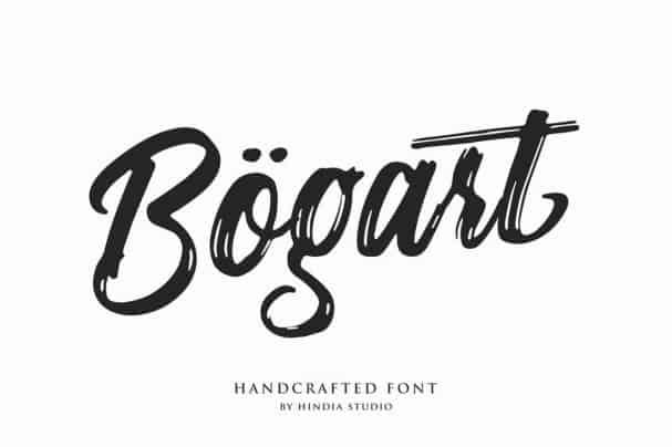 Download Bogart Script font (typeface)