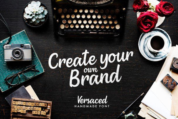 Download Versaced - Handmade Font font (typeface)