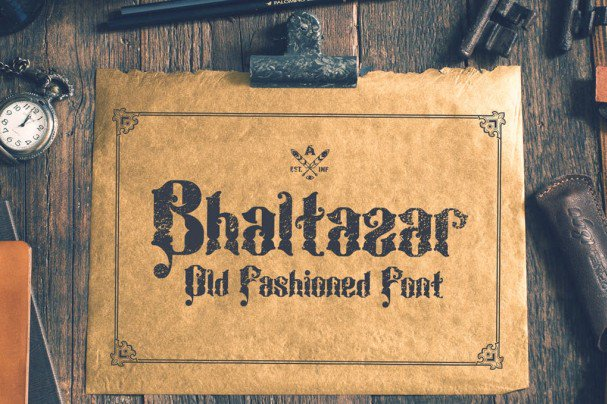 Download Bhaltazar Typeface font (typeface)