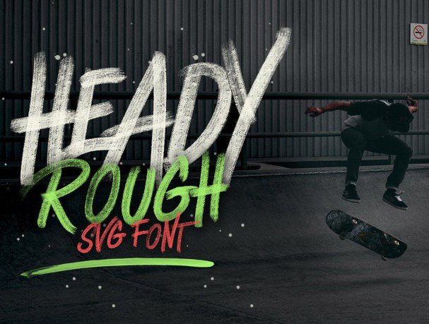 Download Heady Rough OpentypeSVG font (typeface)