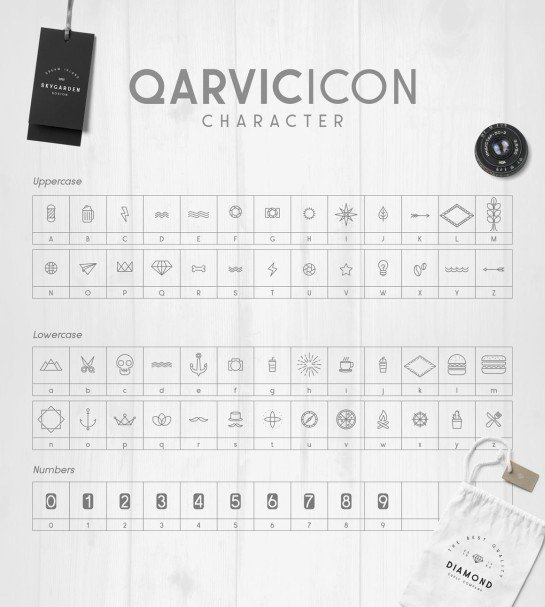 Download QARVIC Typeface font (typeface)