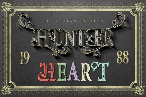 Download Hunter Heart font (typeface)