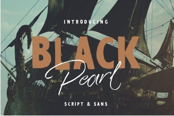 Download Black Pearl Font Duo + Extras font (typeface)