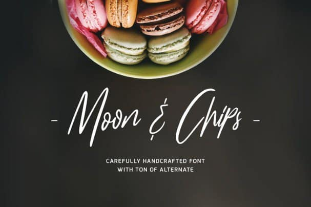 Download Moon & Chips font (typeface)