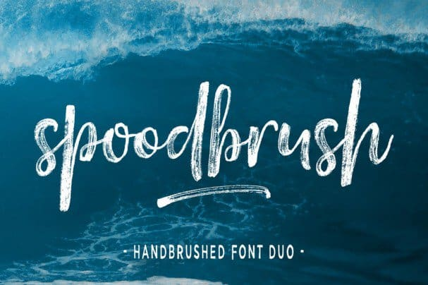 Download Spoodbrush Font font (typeface)