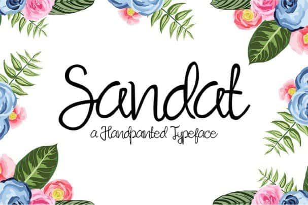 Download Sandat Script font (typeface)